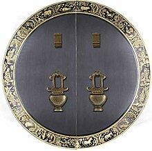 Antikes Kupfer Türklopfer, Chinesischer Tierkopf
