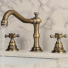 Antikes Kupfer Zwei Griffe Drei Löcher Bad