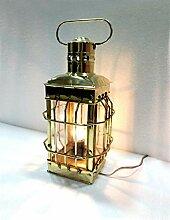 Antikes Messing-Laterne Elektrische Lampe,