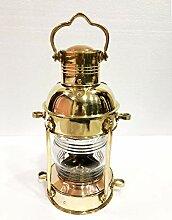 Antikes Messing-Leuchtturm-Laterne, Schiffslampe,