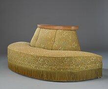Antikes Sofa mit Fransen, 1900er