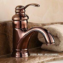 Antikes Waschbecken Rose Gold Wasserhähne