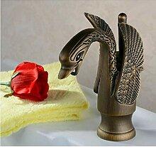 Antique Brass Einhand-Waschbecken Wasserhahn