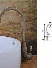 antique brass einziges Loch Einhand-Bad Waschbecken Wasserhahn (gro?)