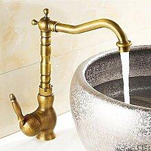 Antique Brass Single Handle Swivel Waschbecken