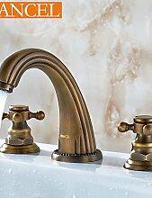 antique brass verbreitet Waschbecken Wasserhahn