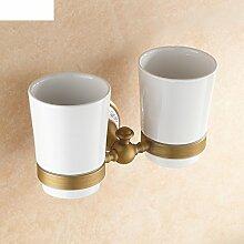 Antique Cups/Alle Kupfer Zahnbürste Becherhalter/Porzellan Bad-Accessoires