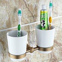 Antique Cups/Doppel Cup/Alle Kupfer Becherhalter/Hotels Zahnbürste Tasse/paar Cup/Continental Bad-Accessoires-Keramiktasse