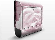 Antique Pink 39x46x13cm Briefkasten, Standbriefkasten, Briefkästen, Blumen, Blüten, Rose