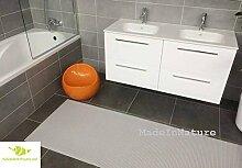 Antirutschmatte Badematte Küchenmatte Küchenteppich / Abmessungen und Farbwahl / Multi-Use-Teppich / MadeInNature (65x400cm, Lehm Grau)