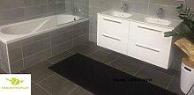 Antirutschmatte Badematte Küchenmatte Küchenteppich / Abmessungen und Farbwahl / Multi-Use-Teppich / MadeInNature (65x250cm, Schwarz)