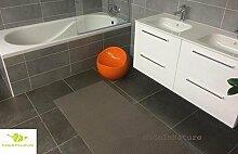 Antirutschmatte Badematte Küchenmatte Küchenteppich / Abmessungen und Farbwahl / Multi-Use-Teppich / MadeInNature (65x100cm, Taupe)