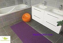 Antirutschmatte Badematte Küchenmatte Küchenteppich / Abmessungen und Farbwahl / Multi-Use-Teppich / MadeInNature (65x080cm, Lila)