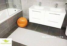 Antirutschmatte Badematte Küchenmatte Küchenteppich / Abmessungen und Farbwahl / Multi-Use-Teppich / MadeInNature (65x100cm, Schneewittchen)
