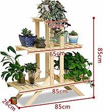 Antiseptic Holz Blumenständer Blumentopf Regal / Pflanze Stand Hölzerne Blumen Racks / Europäische Stil Balkon Wohnzimmer Starke Tragfähigkeit ( farbe : F )