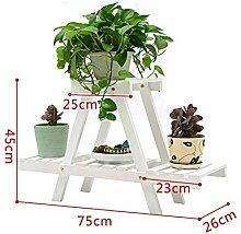 Antiseptic Holz Blumenständer Blumentopf Regal / Pflanze Stand Hölzerne Blumen Racks / Europäische Stil Balkon Wohnzimmer Starke Tragfähigkeit ( farbe : A )