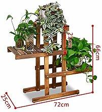 Antiseptic Holz Blumenständer Blumentopf Regal / Pflanze Stand Hölzerne Blumen Racks / Europäische Stil Balkon Wohnzimmer Starke Tragfähigkeit ( farbe : D )