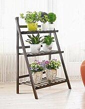 Antiseptic Holz Blumenständer Garten Pflanztopf Display Regal / Stand Blume Rack / Outdoor Multi - Layer Leiter Blumenbeet Rahmen Wohnzimmer Balkon Blumen Rack Starke Tragfähigkeit ( größe : 70*93cm )
