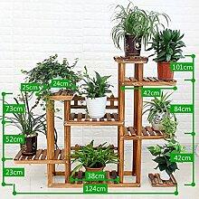 Antiseptic Holz Blumenständer Hölzerne Blumen-Racks / Indoor-und Outdoor-Pflanzen-Racks / Multi-Layer-Blumentöpfe / Floor-Art Flower Display Stand Starke Tragfähigkeit ( stil : C )