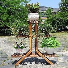 Antiseptic Holz Blumenständer Hölzerne Blumen-Racks / Indoor-und Outdoor-Pflanzen-Racks / Multi-Layer-Blumentöpfe / Floor-Art Flower Display Stand Starke Tragfähigkeit ( größe : 25*84*84cm )