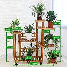 Antiseptic Holz Blumenständer Hölzerne Blumen-Racks / Indoor-und Outdoor-Pflanzen-Racks / Multi-Layer-Blumentöpfe / Floor-Art Flower Display Stand Starke Tragfähigkeit ( stil : B )