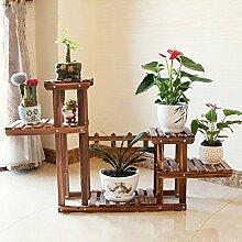 Antiseptic Holz Blumenständer Hölzerne Blumen-Racks / Indoor-und Outdoor-Pflanzen-Racks / Multi-Layer-Blumentöpfe / Floor-Art Flower Display Stand Starke Tragfähigkeit ( größe : 25*124*74cm )