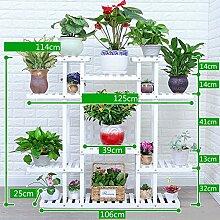 Antiseptic Holz Blumenständer Hölzerne Blumen-Racks / Indoor-und Outdoor-Pflanzen-Racks / Multi-Layer-Blumentöpfe / Floor-Art Flower Display Stand Starke Tragfähigkeit ( Farbe : B )