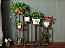 Antiseptic Holz Blumenständer Hölzerne Blumen-Racks / Indoor-und Outdoor-Pflanzen-Racks / Multi-Layer-Blumentöpfe / Floor-Art Flower Display Stand Starke Tragfähigkeit ( Farbe : E )