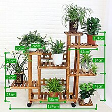 Antiseptic Holz Blumenständer Hölzerne Blumen-Racks / Indoor-und Outdoor-Pflanzen-Racks / Multi-Layer-Blumentöpfe / Floor-Art Flower Display Stand Starke Tragfähigkeit ( stil : D )