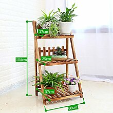 Antiseptic Holz Blumenständer Hölzerne Blumen-Racks / Indoor-und Outdoor-Pflanzen-Racks / Multi-Layer-Blumentöpfe / Floor-Art Flower Display Stand Starke Tragfähigkeit ( größe : 104*37*60cm )