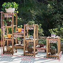 Antiseptic Holz Blumenständer Holz Pflanze Blume Ausstellungsstand Holz Topf Regal Lagerregal Outdoor Indoor Mehrschichtige Blumentöpfe Dunkelbraun Starke Tragfähigkeit ( größe : 6 )