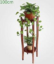 Antiseptic Holz Blumenständer Holz Pflanze Blume Ausstellungsstand Holz Topf Regal Lagerregal Outdoor Indoor 2 Topf Halter Starke Tragfähigkeit ( größe : 100cm )