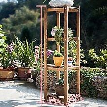 Antiseptic Holz Blumenständer Holz Pflanze Blume Ausstellungsstand Holz Topf Regal Lagerregal Outdoor Indoor Mehrschichtige Blumentöpfe Dunkelbraun Starke Tragfähigkeit ( größe : 3 )
