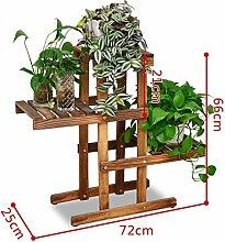 Antiseptic Holz Blumenständer Leichter hölzerner Blumen-Standplatz / Innen- / im Freienpflanzungs-Regal / 4F Leiter-Stairway / Töpfe / Anlage Blumen-Ausstellungsstand Starke Tragfähigkeit ( Farbe : 4 )
