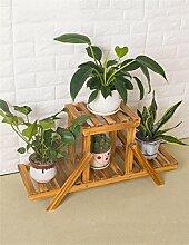 Antiseptic Holz Blumenständer Mehrstöckiger Holzboden Blumentopf Regal / Pflanze Stand / Blume Rack Für Wohnzimmer Balkon Starke Tragfähigkeit ( größe : S )