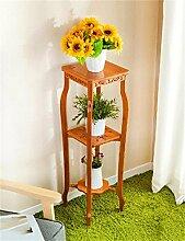 Antiseptic Holz Blumenständer Retro Boden Blumentopf Regal / Pflanze Stand / Blume Rack Für Balkon / Wohnzimmer Blumen Rack Starke Tragfähigkeit ( größe : L )
