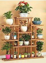 Antiseptic Holz Blumenständer Wooden Flower Rack / Indoor und Outdoor Pflanze Rack / mehrstöckige Boden Leiter / Blumentopf Rack / Pflanze Flower Display Stand Starke Tragfähigkeit ( Farbe : A , größe : 115*118cm )