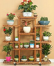 Antiseptic Holz Blumenständer Wooden Flower Rack / Indoor und Outdoor Pflanze Rack / mehrstöckige Boden Leiter / Blumentopf Rack / Pflanze Flower Display Stand Starke Tragfähigkeit ( Farbe : B , größe : 115*118cm )