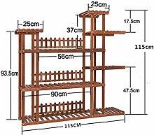 Antiseptic Holz Blumenständer Wooden Flower Rack / Indoor und Outdoor Pflanze Rack / mehrstöckige Boden Leiter / Blumentopf Rack / Pflanze Flower Display Stand Starke Tragfähigkeit ( Farbe : A )