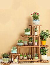 Antistatische Massivholz Blume Regal Balkon mehrstöckigen Holz Wohnzimmer Blumentopf Rack ( stil : B )
