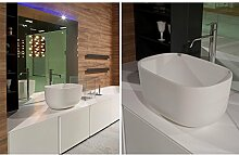 Antonio Lupi countertop basins Covo on top sink COVO60