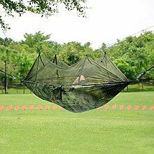 Antye® Tragbaren Nylon Gewebe Reisen Camping Hängematte Für Eine Person Mit Moskitonetzen Hochfester Nylon Hängematte (farbe)