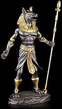 Anubis Figur - Krieger ägyptisch schwarz-gold -