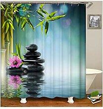 Anwaz Duschvorhang Waschbar aus Polyester See