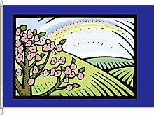 Anwesenheitsbanner Frühling - 40 x 250cm - Flagge und Banner