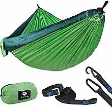 Anyoo Camping Fallschirm Hängematte Mit 3m Baumgurten – Anpassungsfähiger Schnallen – Einfache Befestigung Keine Knoten Erforderlich Ultraleicht zum Wandern Backpacking Strand