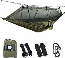Anyoo Camping Hängematte mit Schnakennetz Nylon