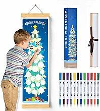 ANYUNKEY 2020 adventskalender DIY Malerei für die