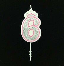 Anzahl 0-9 Geburtstag Kerze Glückliche Geburtstag