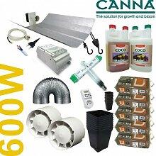 Anzucht-Set Coco Canna + Beleuchtung 600W